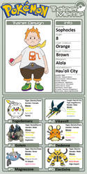 Trainer Profile: Sophocles (Mateo2004) by WillDinoMaster55