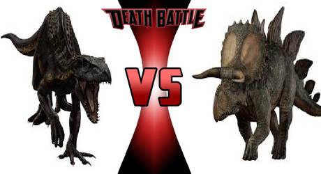 DEATH BATTLE: Indoraptor vs Stegoceratops by WillDinoMaster55