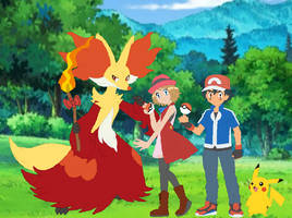 Pokemon Quest: Ash and Serena's Photo Taken