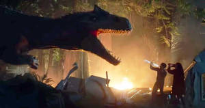 Allosaurus attacking the Camp