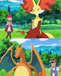Ash vs Serena (Fire Type Battle)