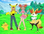 Ash and Serena's Pokemon Costumes (Amourshipping)