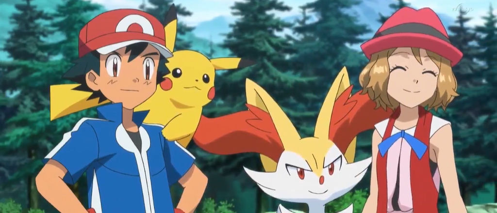 Ash and Serena (Pokemon XYZ EP10)