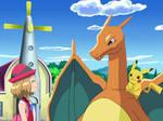 Serena meets Ash's Pokemon (Amourshipping)