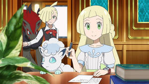Lillie and Gladion (Pokemon Journeys)