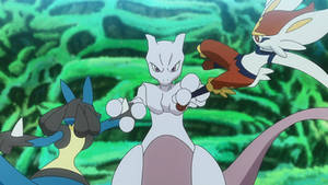 Battling with Mewtwo
