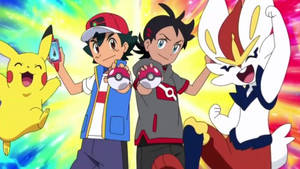 Ash and Goh catch Two each Fossil Pokemon