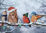 Christmas birds by snowcap1