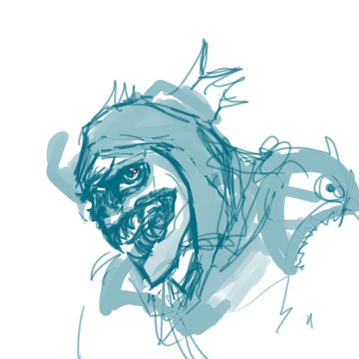 slark dota 2 sketch by taekwontaek on deviantart