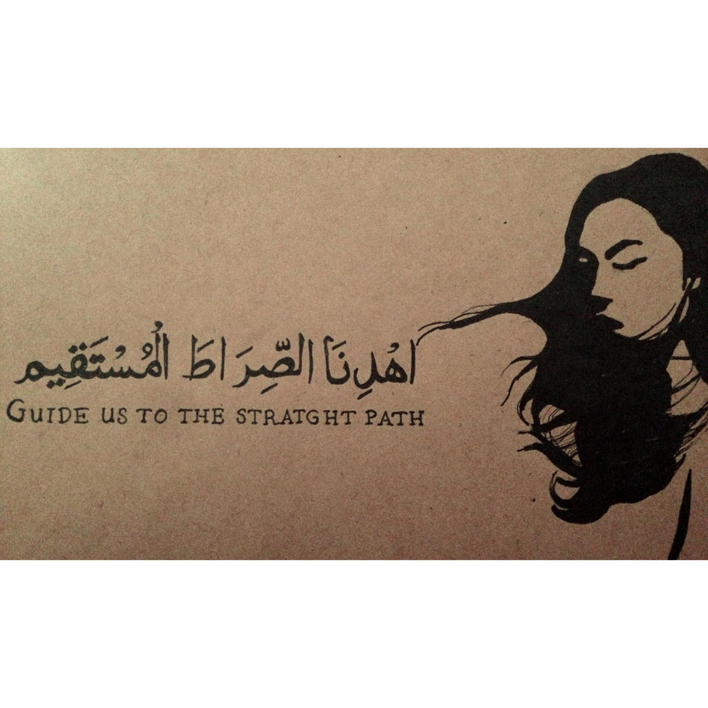 Stencil drawing with some arabic calligraphy by amniiii on