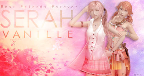 Vanille and Serah - BFF by MissAlyvia