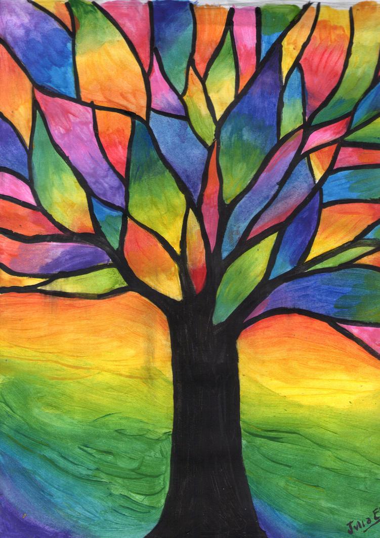 arbol de colores by julia evs on deviantart