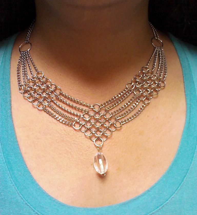 2fbccc8d45b7 Collar Tejido medieval y cadenas by Julia-EVS on DeviantArt