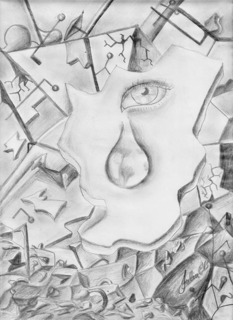 Llanto por un mundo en pedazos by Julia-EVS