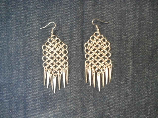 Earrings with spikes by Julia-EVS