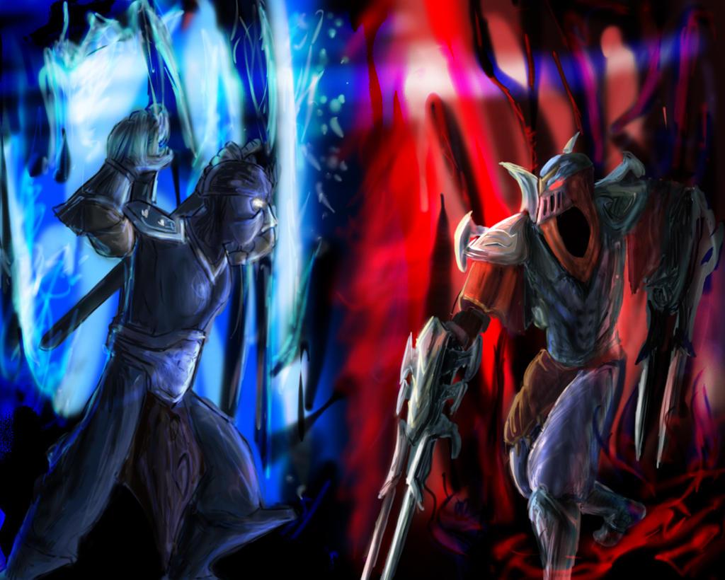Zed and Shen by Huntermanx on DeviantArt