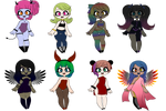 Adoptables 7/8. by EclairDloodyDemon