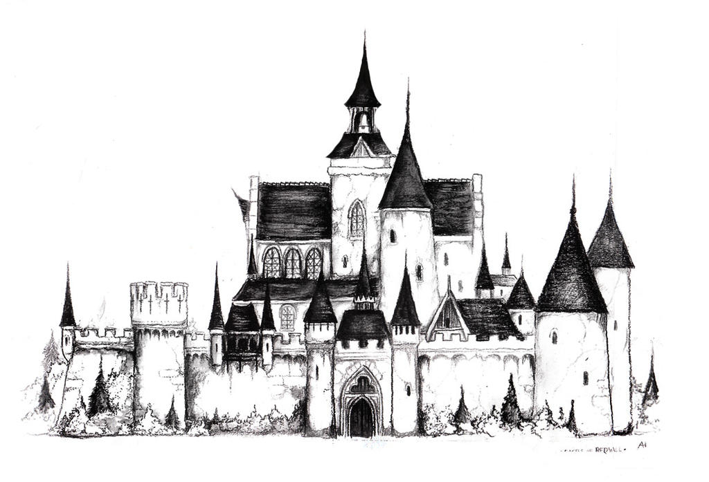 Redwall Abbey castle sketch by FairytalesArtist on DeviantArt