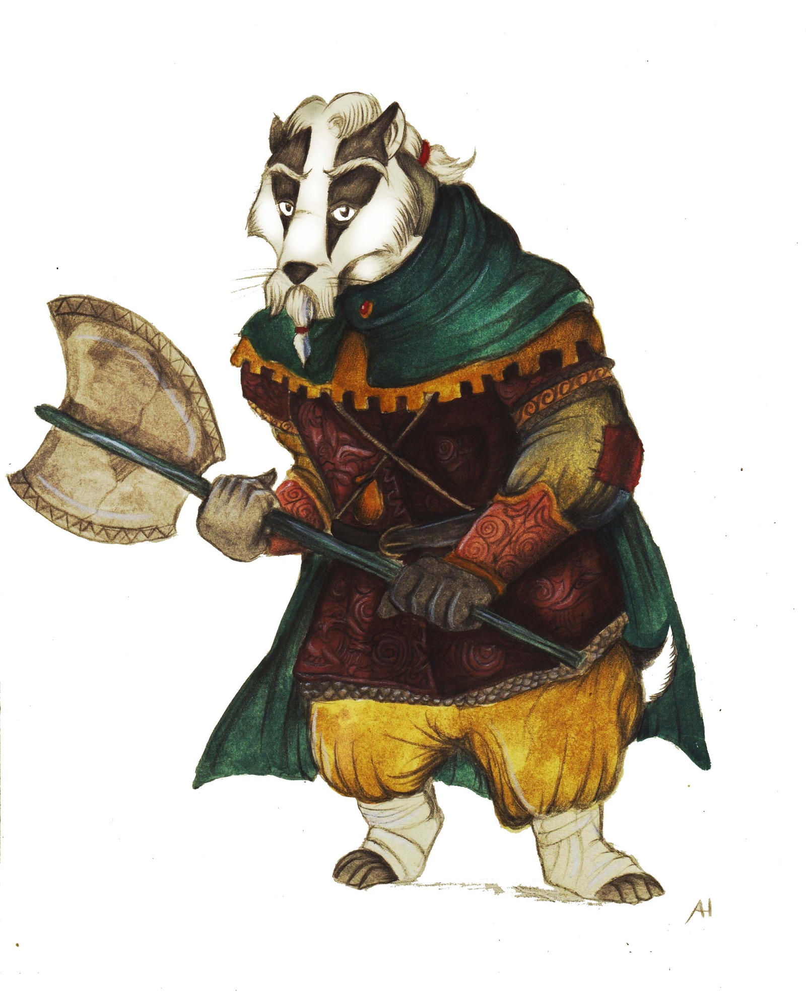 Redwall Orlando the Axe by FairytalesArtist