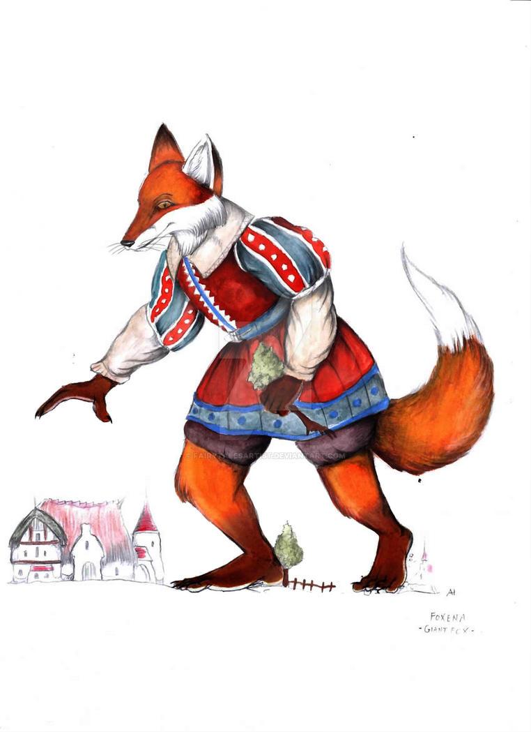foxenus the giant fox by fairytalesartist on deviantart