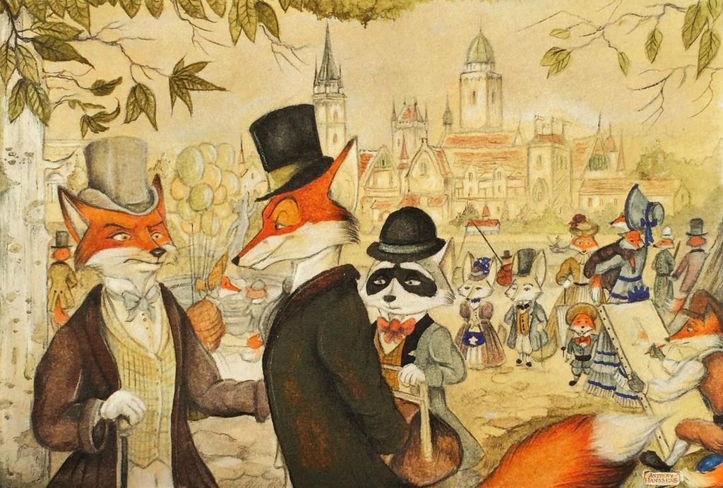 The Victorians Fox town by FairytalesArtist