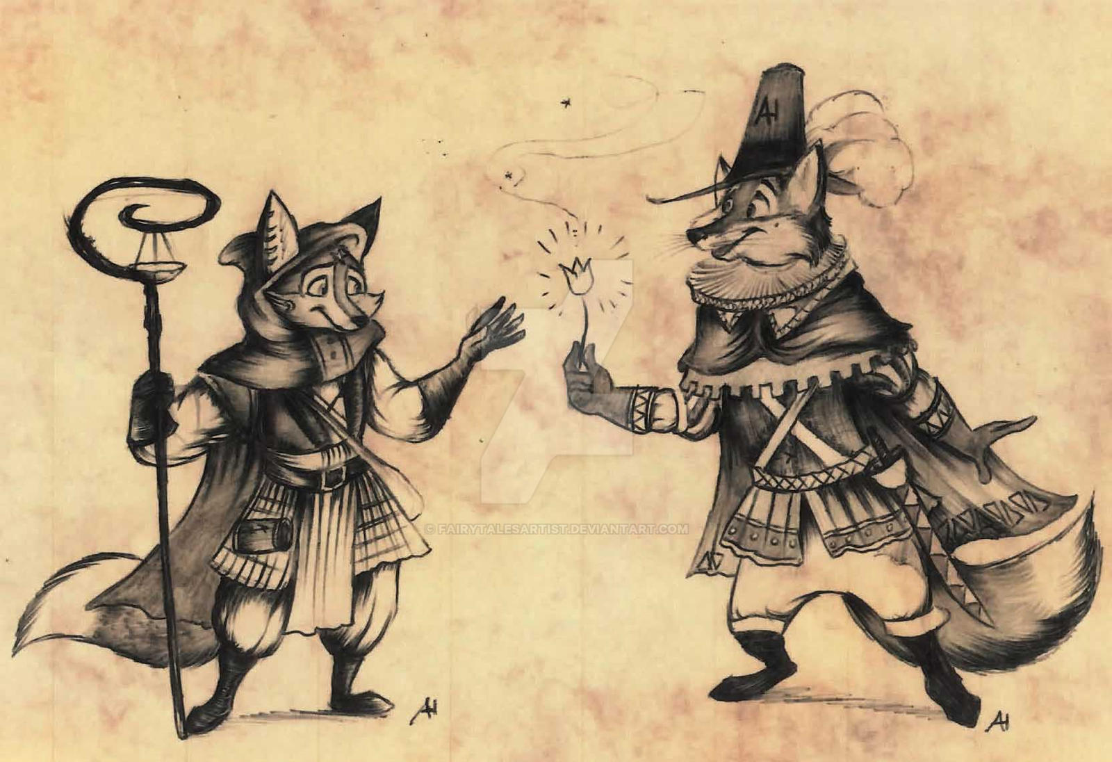 Foxboy the FairytalesArtist meet FortunataFox by FairytalesArtist