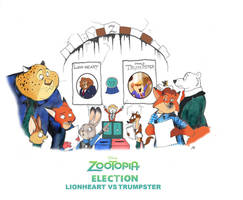 Zootopia Election Lionheart vs Trumpster by FairytalesArtist