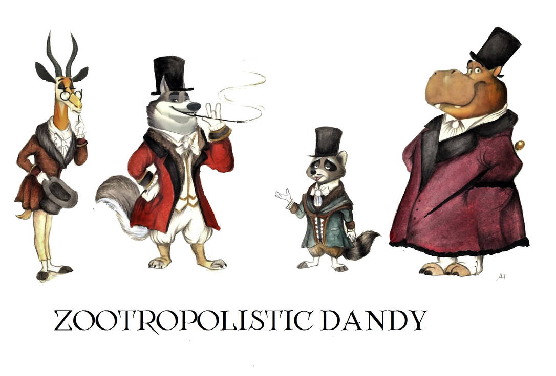 Victorian Zootopia Traditional Clothes 02 by FairytalesArtist