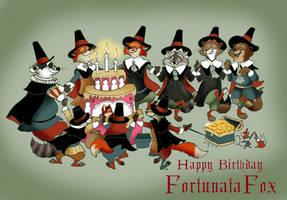 The Pilgrim Fathers Birthday cake of FortunataFox by FairytalesArtist