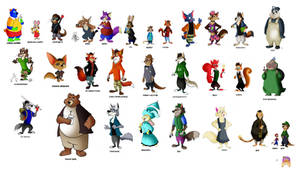 Fairly Odd Zootopia OC Characters by FairytalesArtist
