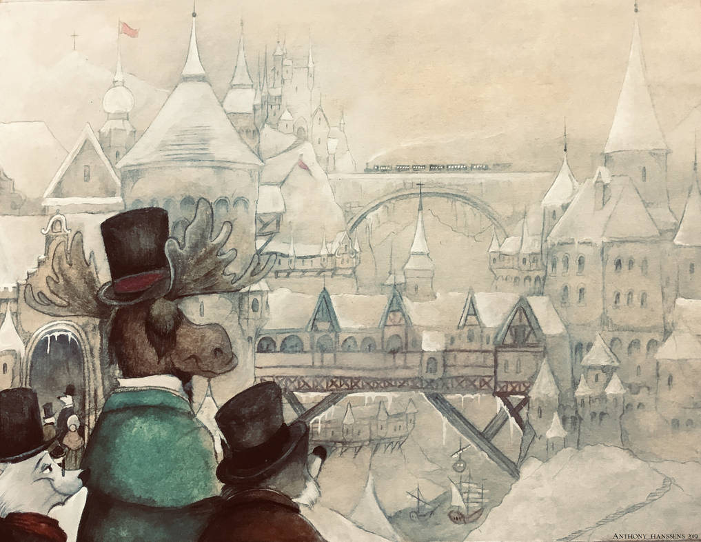 Victorian Zootopia Tundra Town by FairytalesArtist