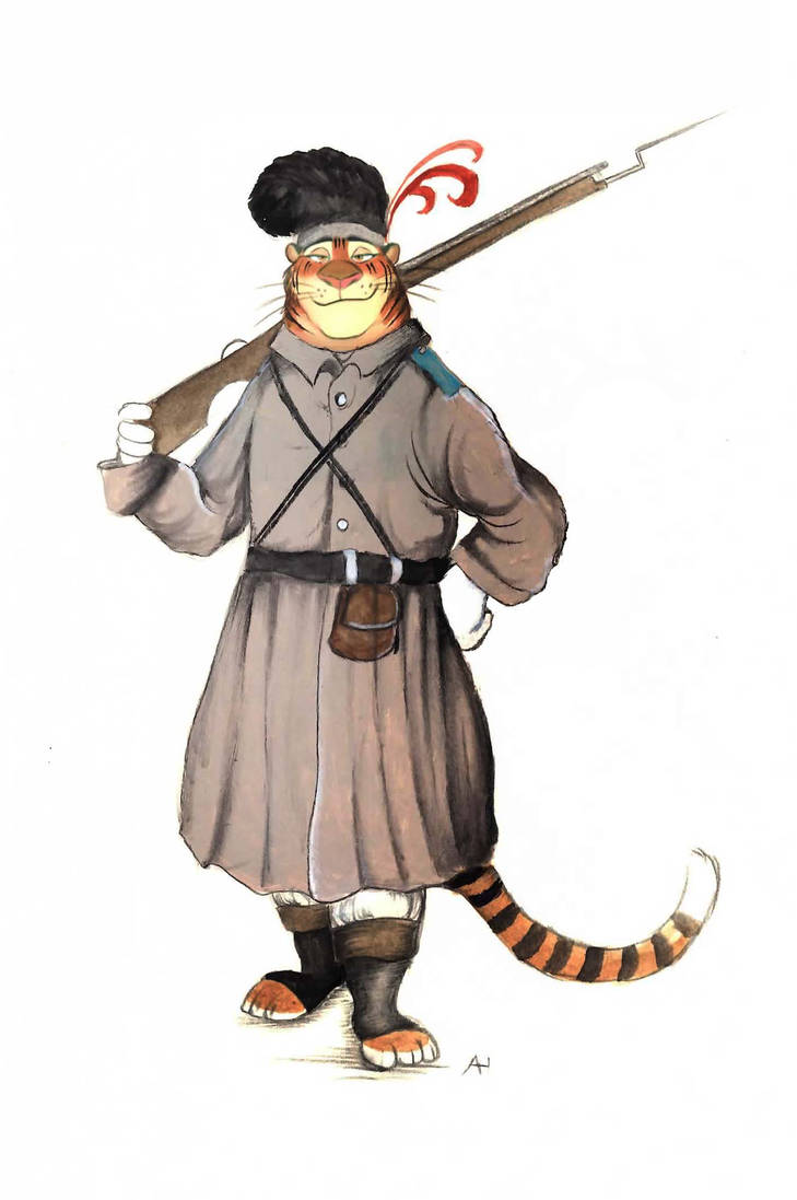 Victorian Zootopia Tiger Independence Soldier by FairytalesArtist