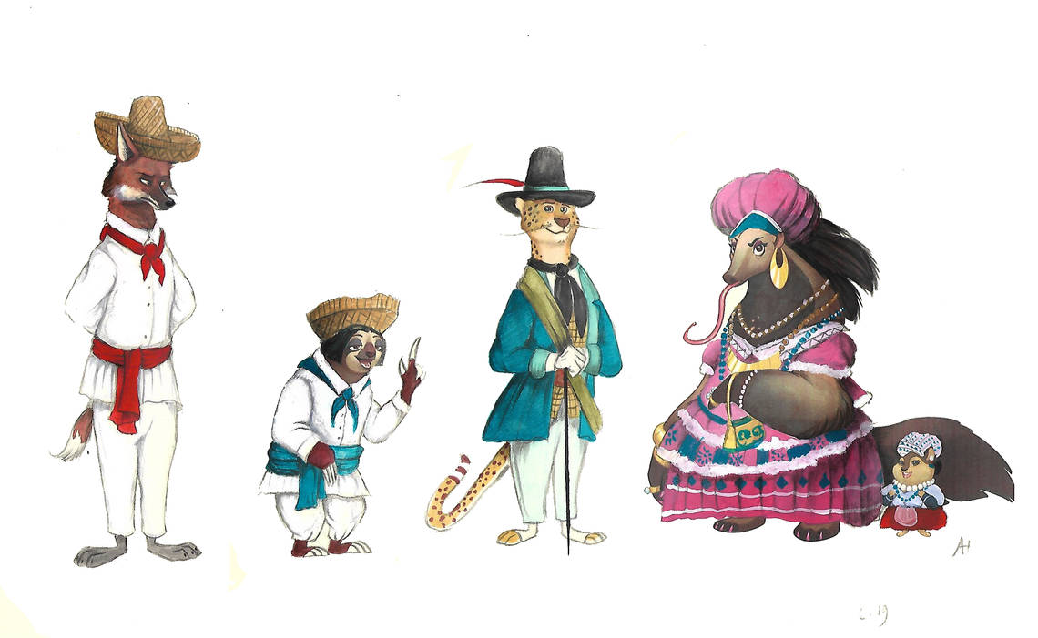 Victorian Zootopia Traditional clothes 07 by FairytalesArtist