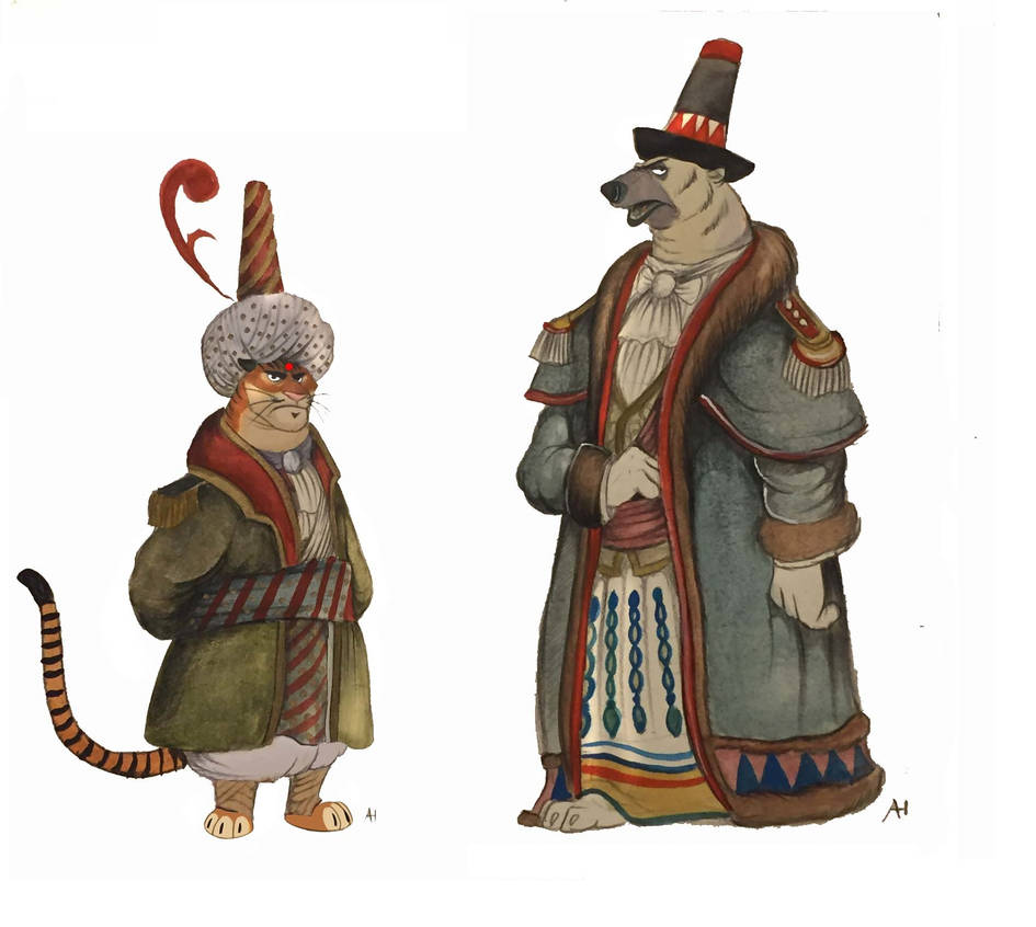 Victorian Zootopia Sultan and King by FairytalesArtist
