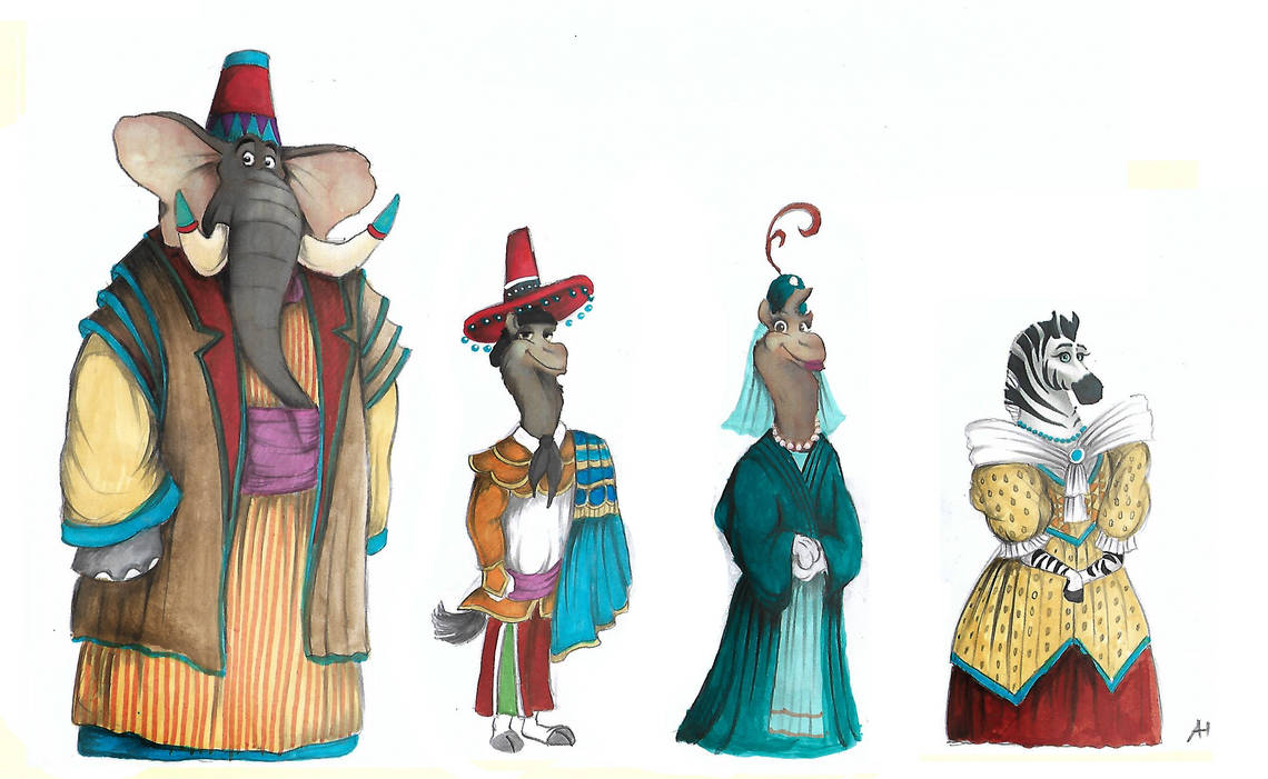 Victorian Zootopia Traditional Clothes 06 by FairytalesArtist
