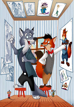 Zootopia Drawing on the Wall