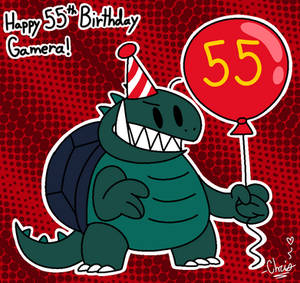 Happy 55th Birthday Gamera!