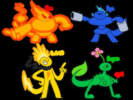 The Elemental Buddies (Mega Forms)