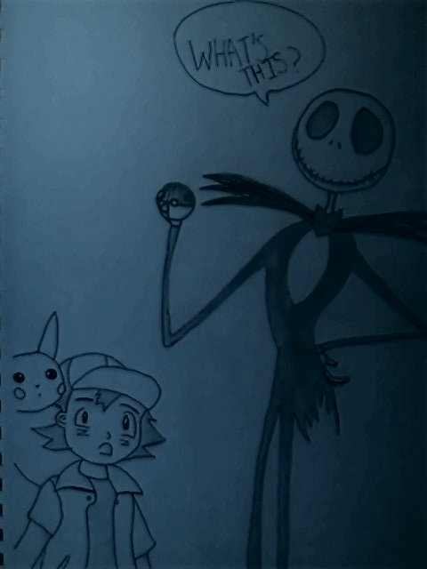 The Pumpkin King and Pokemon Cross Over by BlueNinjaCupcake