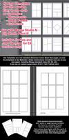 Manga Studio Clip Studio 5 - 4 Panel Pg Templates
