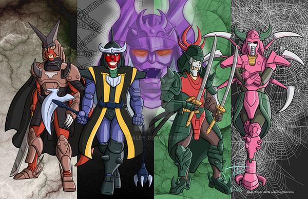 Ronin warriors dark warlords poster by lizstaley on deviantart - Ronin warriors warlords ...