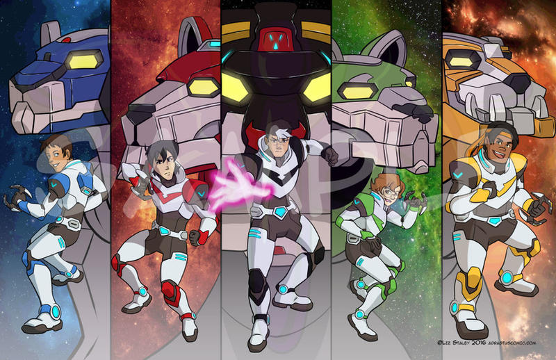 Voltron Legendary Defender Group by lizstaley
