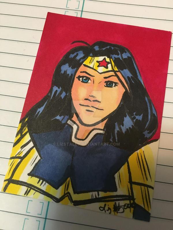 Wonder Woman Art Card by lizstaley