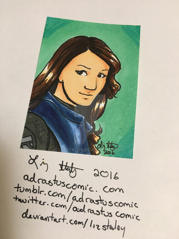 Inktober 27- Agent Melinda May by lizstaley