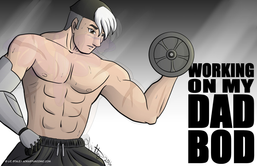 Shiro working on his Dad Bod by lizstaley