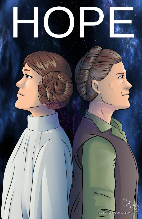 HOPE - Carrie Fisher Leia Organa Tribute by lizstaley