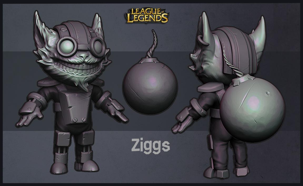 Ziggs Sculpt by sstrikerr