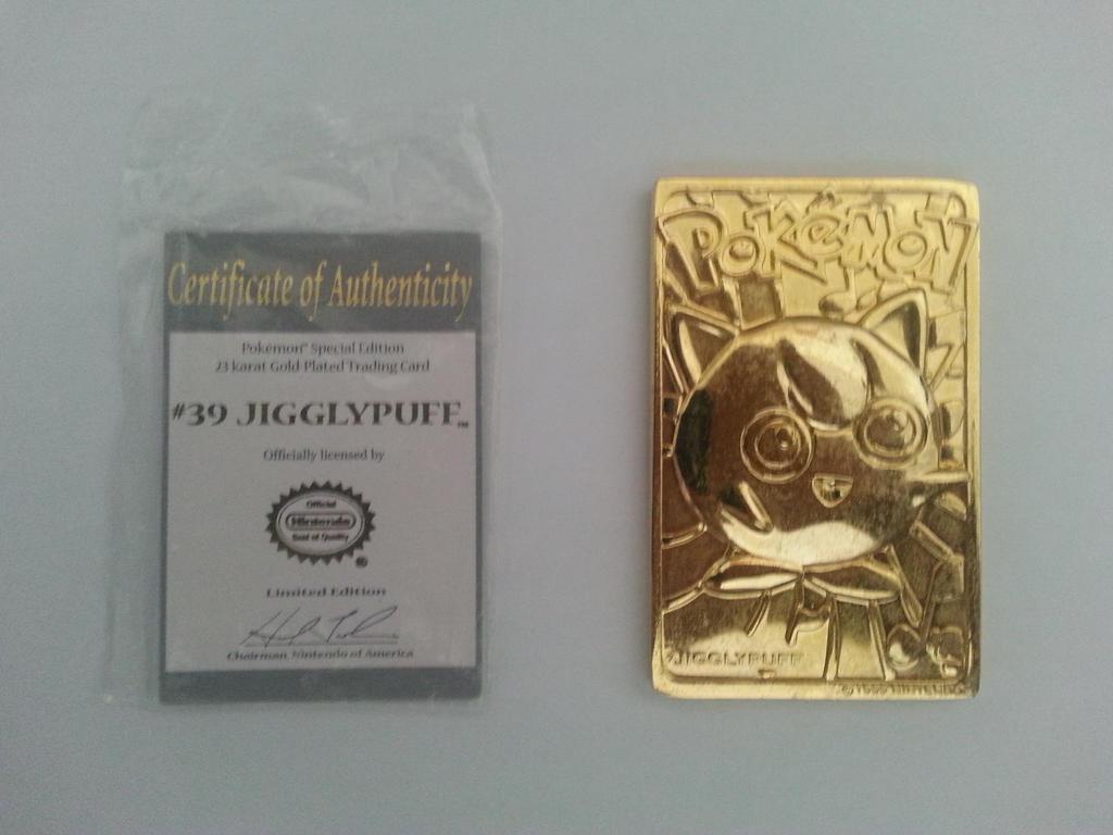Gold Jigglypuff Card Pokemon Jigglypuff Gold Card