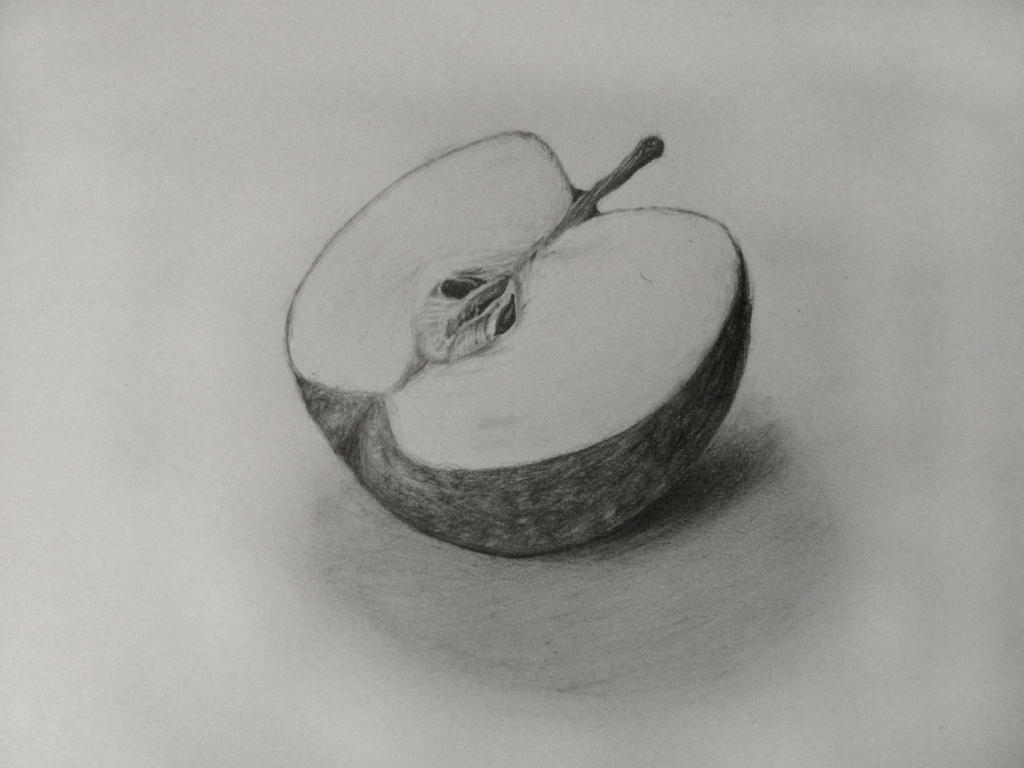 how to draw a realistic apple
