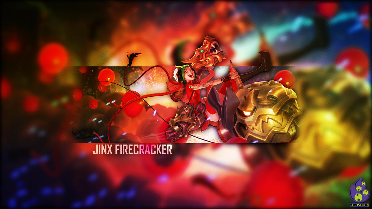 Firecracker Jinx Wallpaper Wallpaper Jinx Firecracker by ChrisEdua on DeviantArt